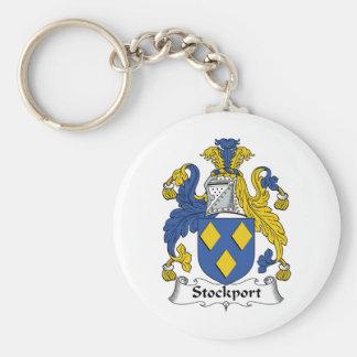Escudo de la familia de Stockport Llavero Redondo Tipo Pin