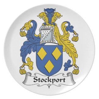Escudo de la familia de Stockport Plato