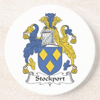 Escudo de la familia de Stockport Posavasos Para Bebidas