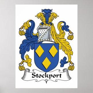 Escudo de la familia de Stockport Poster