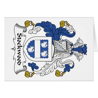 Escudo de la familia de Stockwood Felicitación