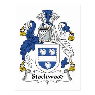 Escudo de la familia de Stockwood Tarjeta Postal