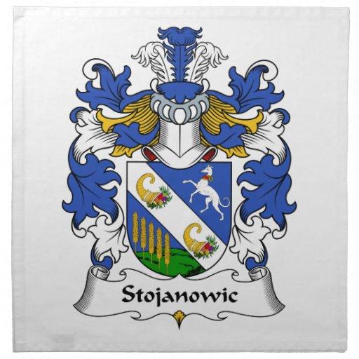Escudo de la familia de Stojanowic Servilleta Imprimida