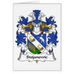 Escudo de la familia de Stojanowic Tarjeta