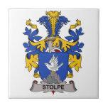 Escudo de la familia de Stolpe Azulejo