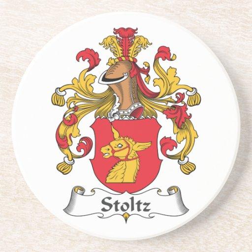 Escudo de la familia de Stoltz Posavasos Para Bebidas