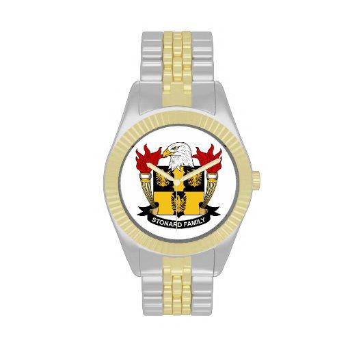 Escudo de la familia de Stonard Relojes De Pulsera