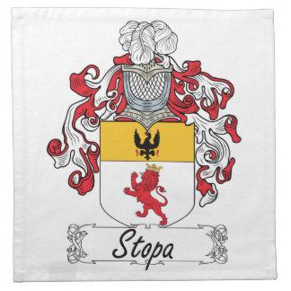 Escudo de la familia de Stopa Servilletas Imprimidas