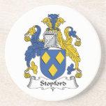 Escudo de la familia de Stopford Posavasos Diseño