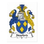 Escudo de la familia de Stopford Postales