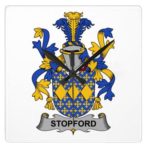 Escudo de la familia de Stopford Relojes
