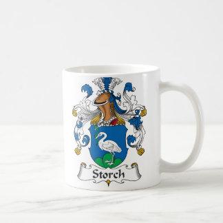 Escudo de la familia de Storch Taza Básica Blanca