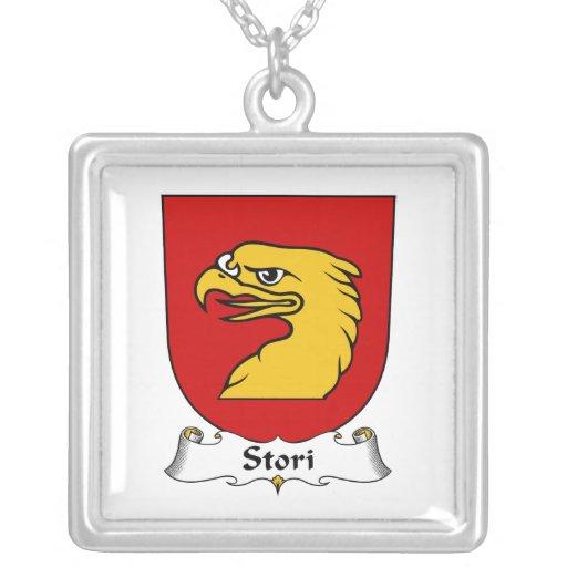 Escudo de la familia de Stori Pendiente Personalizado