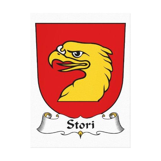 Escudo de la familia de Stori Lona Envuelta Para Galerias