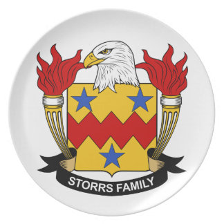 Escudo de la familia de Storrs Plato