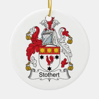 Escudo de la familia de Stothert Adorno Navideño Redondo De Cerámica