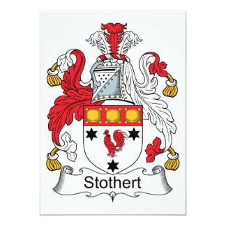 """Escudo de la familia de Stothert Invitación 5"""" X 7"""""""