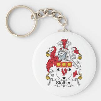 Escudo de la familia de Stothert Llavero Redondo Tipo Pin