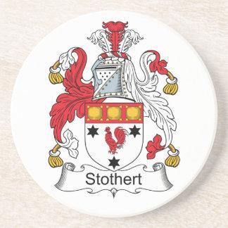 Escudo de la familia de Stothert Posavasos Personalizados