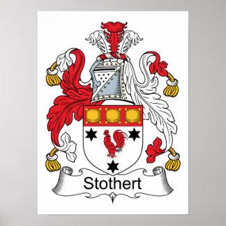 Escudo de la familia de Stothert Póster