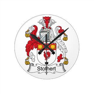 Escudo de la familia de Stothert Reloj Redondo Mediano