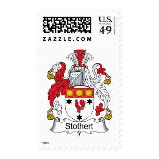 Escudo de la familia de Stothert Sello Postal