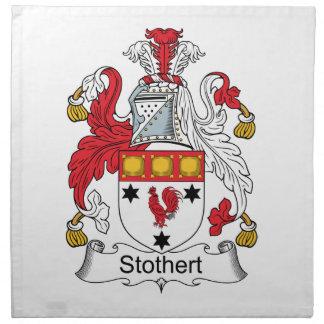 Escudo de la familia de Stothert Servilleta Imprimida