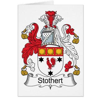 Escudo de la familia de Stothert Tarjeta De Felicitación