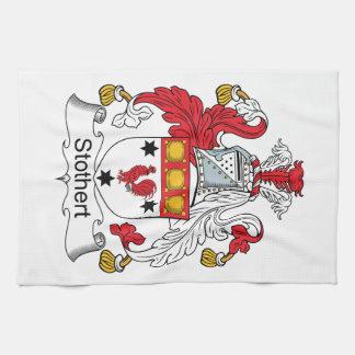 Escudo de la familia de Stothert Toallas