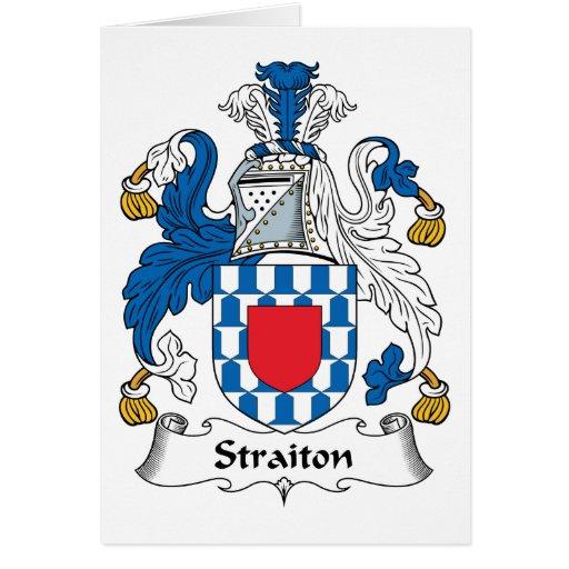 Escudo de la familia de Straiton Tarjeta De Felicitación