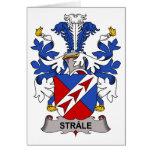 Escudo de la familia de Strale Tarjetón