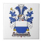 Escudo de la familia de Strangesen Tejas Cerámicas