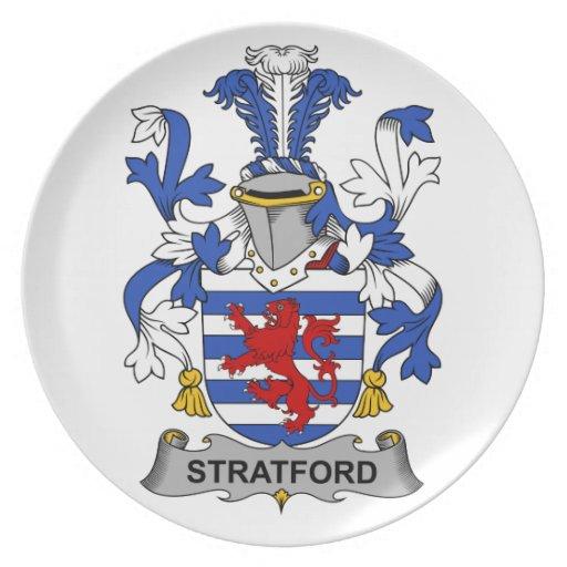 Escudo de la familia de Stratford Plato Para Fiesta
