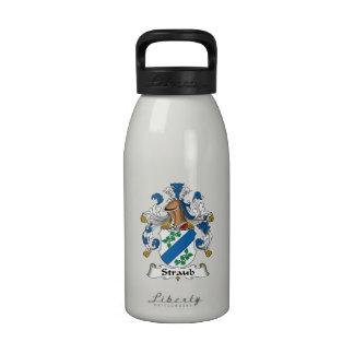 Escudo de la familia de Straub Botella De Agua Reutilizable