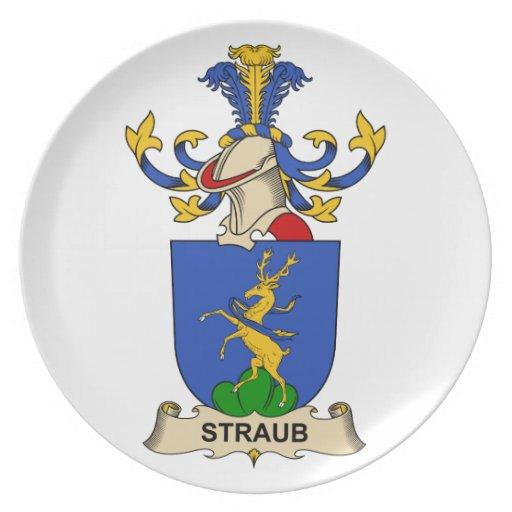 Escudo de la familia de Straub Platos Para Fiestas