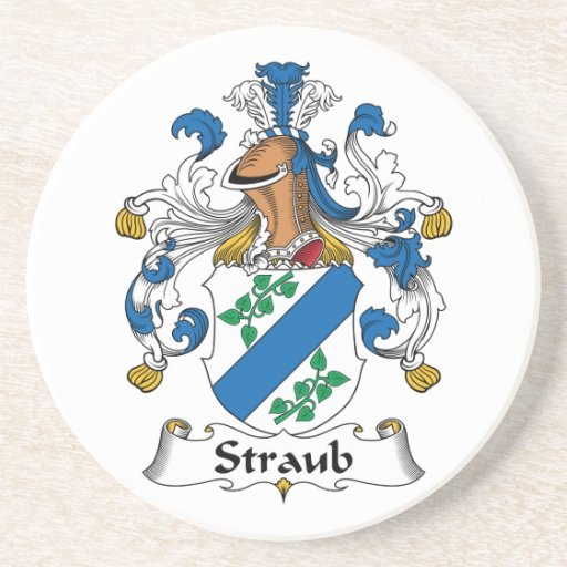 Escudo de la familia de Straub Posavasos Personalizados