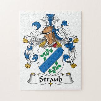 Escudo de la familia de Straub Rompecabeza Con Fotos