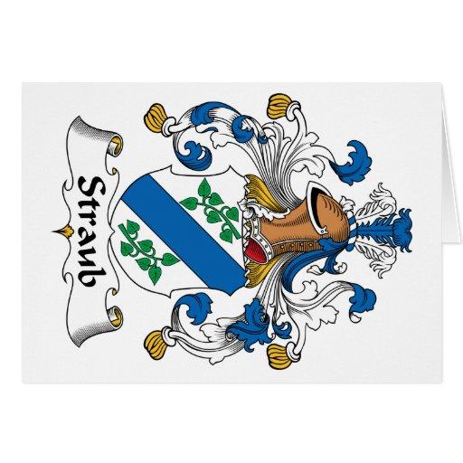 Escudo de la familia de Straub Tarjeta De Felicitación