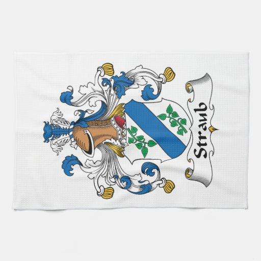 Escudo de la familia de Straub Toallas De Cocina