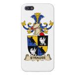 Escudo de la familia de Strauss iPhone 5 Fundas