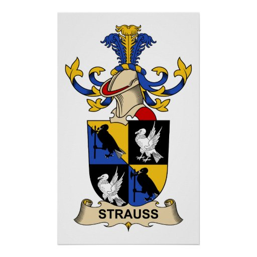 Escudo de la familia de Strauss Poster