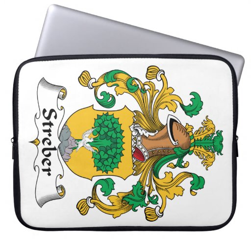 Escudo de la familia de Streber Fundas Ordendadores