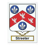 Escudo de la familia de Streeter Invitación 11,4 X 15,8 Cm