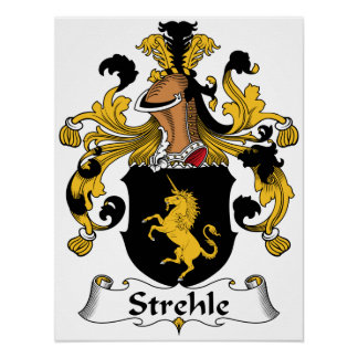 Escudo de la familia de Strehle Impresiones