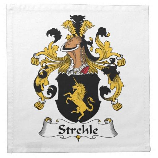Escudo de la familia de Strehle Servilletas De Papel