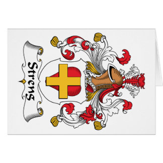 Escudo de la familia de Streng Tarjeta De Felicitación