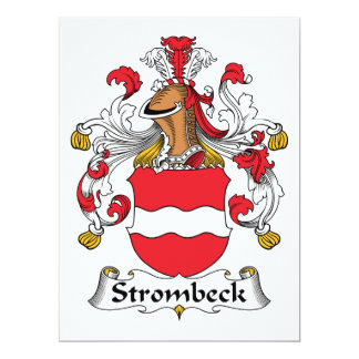 """Escudo de la familia de Strombeck Invitación 6.5"""" X 8.75"""""""