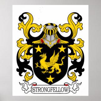 Escudo de la familia de Strongfellow Póster