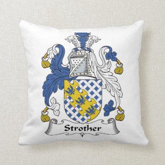 Escudo de la familia de Strother Cojines
