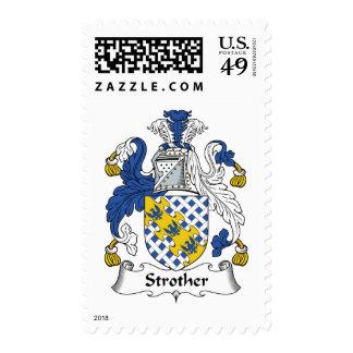 Escudo de la familia de Strother Franqueo
